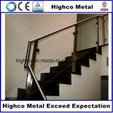 Bride en verre de grand dos d'acier inoxydable pour la balustrade de pêche à la traîne d'escalier