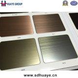 Het Messing /Copper die van de Levering van de fabriek de Decoratieve Bladen van de Kleur van het Roestvrij staal plateren