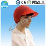 Tampão não tecido do trabalhador dos PP com o chapéu descartável máximo do trabalhador