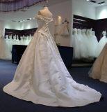 Princess с платьев венчания сатинировки плеча с поездом суда