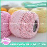Frescos cor saudável Pintado bebê Knitting Yarn Natural Fiber penteado 100% Fios de Algodão