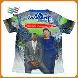 분명히 가득 차있는 인쇄 선거 폴리에스테 t-셔츠