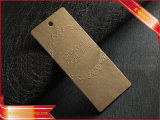 Роскошной черной бумажной бирка бирки Hang напечатанная одеждой