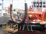 زورق قطر مطّاطة بحريّة حوض سفينة حاجز حبل جرّ أسلوب
