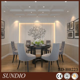 Sala de jantar Cor branca decorativa Madeira Plástico Composto Cofre Teto