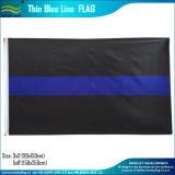 Ligne bleue de polyester des Etats-Unis/rouge mince marque les indicateurs de police (B-NF01F09038)