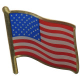 Творческой напечатанные конструкцией штыри отворотом флага для подарка сувенира (XDBG-308)