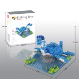 los bloques de la serie del dinosaurio del kit del bloque 14889329-Micro fijaron el juguete educativo creativo 350PCS - Stegosaurus de DIY
