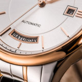 贅沢なビジネス腕時計男性用ステンレス鋼バンド72656が付いている二重カレンダの腕時計