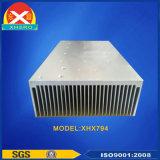 Dissipador de calor de alumínio para uma comunicação de transmissão