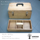 Hongdao kundenspezifischer hölzerner Hilfsmittel-Ablagekasten mit zwei Schichten Wholesal_D
