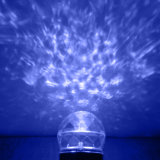 Moções criativas girando a luz do projetor do caleidoscópio
