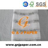 Personalizar el logotipo impreso blanco pañuelo de papel enrollado