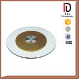Vector barato Turnplate de cristal (R-BL003) del restaurante de la boda