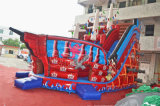 Slide Rojo pirata del Caribe inflable con dos carriles