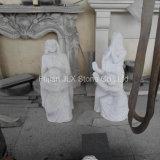 中国白の墓地のための大理石の祈る女性の彫像