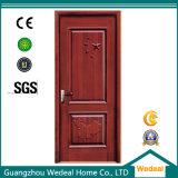 Portas interiores de madeira contínuas carvalho vermelho/branco para projetos