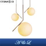 Design moderno estilo de esferas de vidro da lâmpada pendente com bom preço