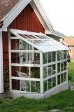 新しいデザイン庭の日曜日部屋または現代ガラス家またはガラス緑部屋
