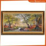 Peinture abstraite de toile d'arbre encadrée par vente chaude