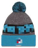 袖口が付いている熱い販売のニットPOMのしまのある帽子