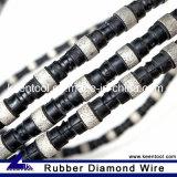 Rubber+Flat 봄은 절단 강철과 무쇠를 위해 10.5mm 직경에 의하여 소결된 구슬로 다이아몬드 철사를 보았다 강화했다