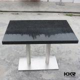 Журнальный стол черного квадрата мебели искусственний каменный