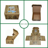 Casella di trasporto ondulata di stampa di legno del grano con l'abitudine