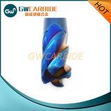 торцевая фреза карбида вольфрама голубого Nano покрытия 65HRC твердая