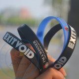 Напечатанный экраном браслет силикона логоса делает ваши собственные Wristbands