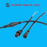 ケーブルが付いている材料PVC/Nylon/Metal AC LED 2 Pinの防水コネクター