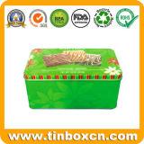 Stagno rettangolare dei biscotti per lo stagno che impacca, contenitore dell'alimento di stagno del biscotto