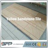 砂岩床タイルの黄色のリゾートの装飾のための木製の静脈のタイル