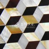 Shell amarillo de la fregona del labio y mosaico de agua dulce del Rhombus del shell y del shell de la pluma