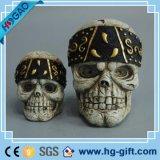 Réaliste crâne humain Tête modèle en résine Décoration Halloween squelette Bar