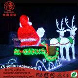 Chritmas 3D 220V Acrílico Santa Claus Deer Motif Light para la decoración de Navidad