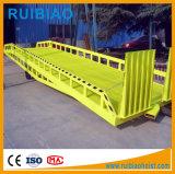 Rampe en acier mobile lourd de chariot élévateur d'embarcadère de 10 tonnes