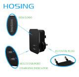 Las últimas Super capatibility iPhoe cargador con 2 2.1A luz LED USB para el teléfono móvil