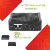 O núcleo N3160 de Quard Dual mini PC do LAN com porta de RS232*COM