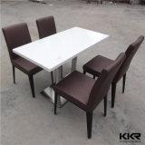 Gaststätte-Möbel-haltbarer künstlicher runder Steintisch mit Firmenzeichen