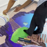Resina epóxi transparente e endurecedor para revestimento de piso Crystal Epoxy 3D