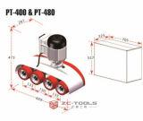 خشبيّ يعمل محور دوران مشكّل آليّة بكرة مغذية مع 4 عجلات [فريفل] سرعة ([بت] - 400)