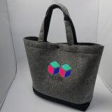 Progettare i sacchetti per il cliente di spalla del Tote del feltro di Grey di alta qualità Jrf-925