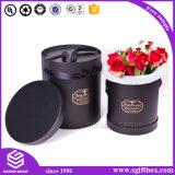 Коробка цветка роскошного изготовленный на заказ печатание логоса круглая