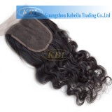Женщин человеческих волос 100% закрытие 4*4 Toupee естественных