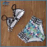 2018명의 주문 소녀 Beachwear 수영복 비키니는 로고로 놓았다