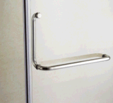 Porta do chuveiro do projeto da personalização para o banheiro