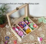 Contenitori di regalo di legno dentellare di lusso dei contenitori di legno di monili per i monili di modo