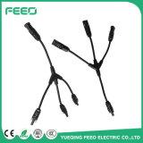 Cable de alambre eléctrico del conector del Pin Mc4 de la potencia en línea del departamento