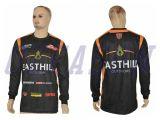 A transferência térmica por atacado do Sportswear projeta a camisola da pesca